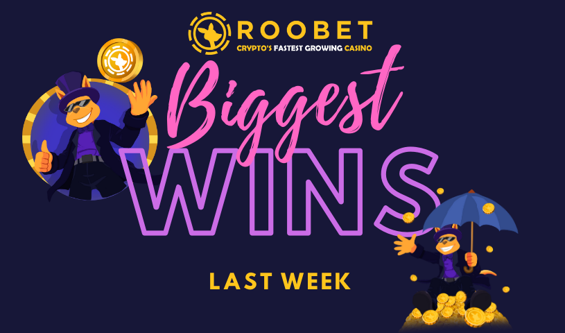 Biggest Wins on Roobet Casino slot machines crazy multiplier cryptocurrency